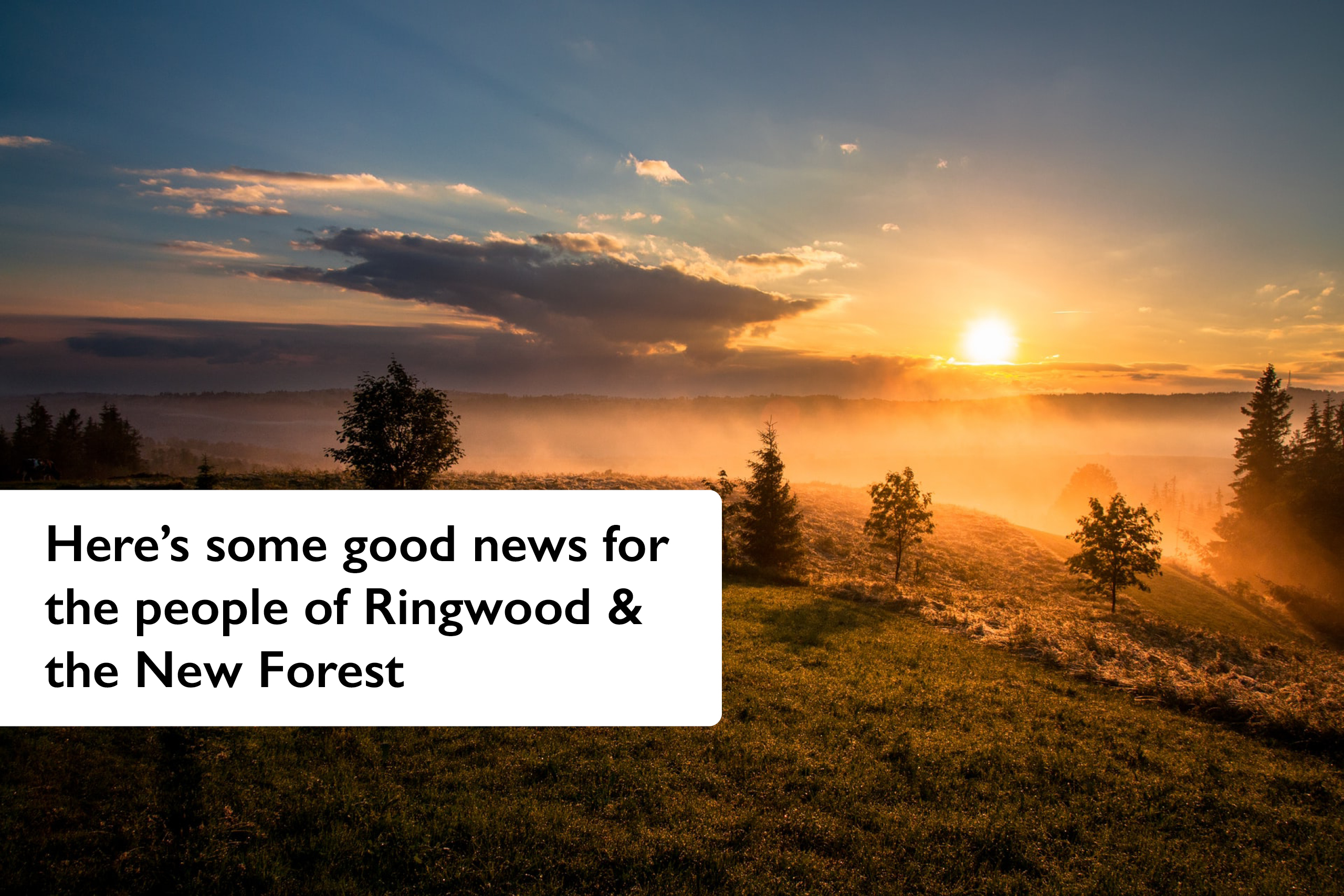 Here's some good news for the people of Ringwood & the New Forest