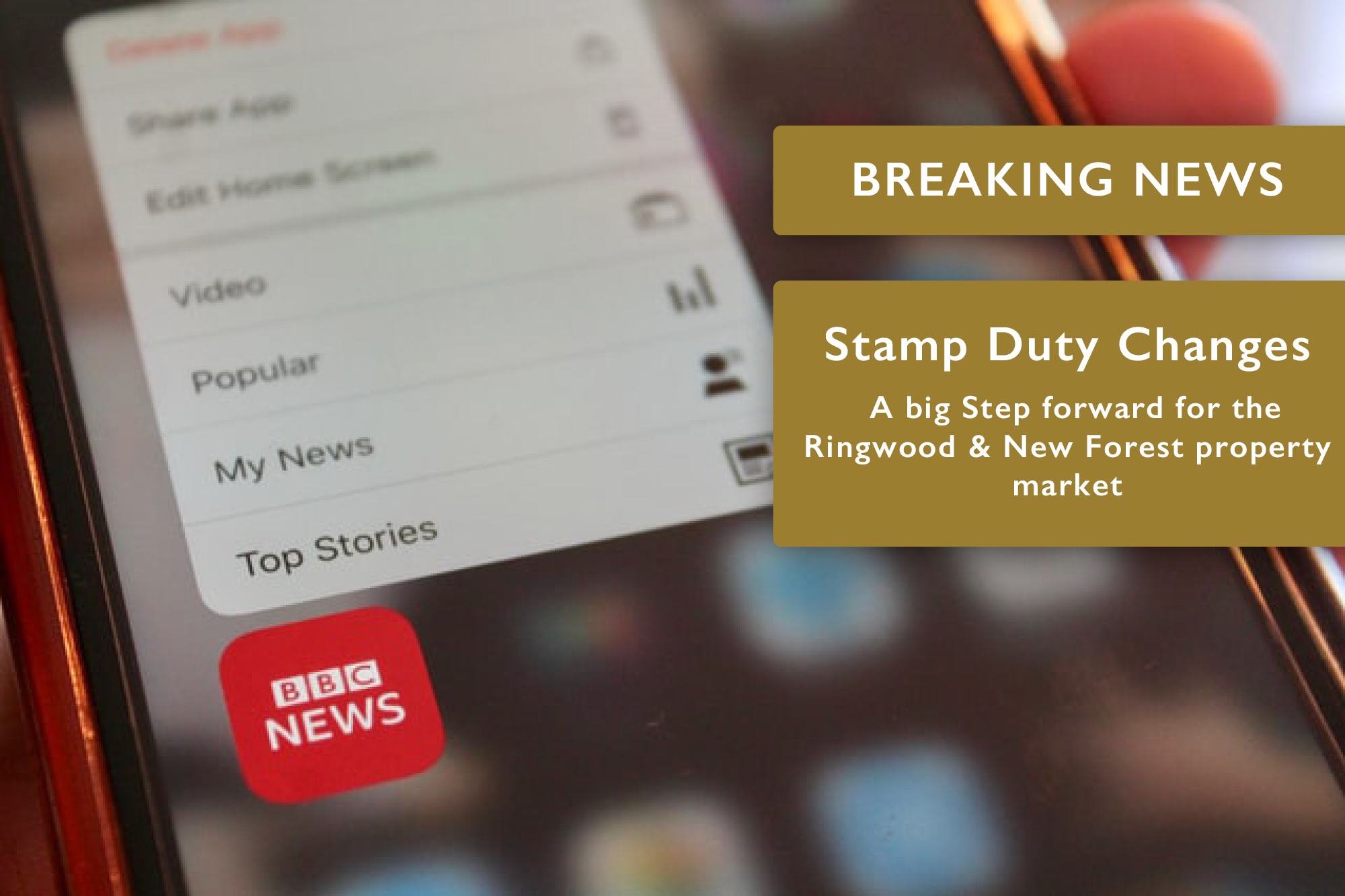Stamp Duty Changes – A big Step forward for the Ringwood & New Forest property market